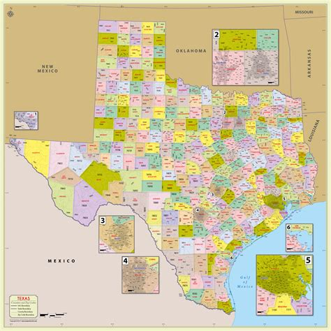 buy texas zip code  counties map
