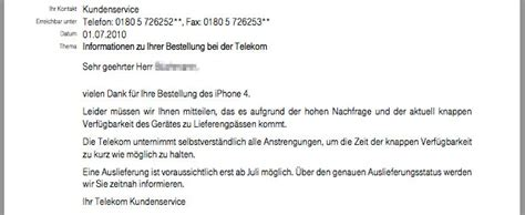 telekom  wochen lieferverzug beim iphone  iphone