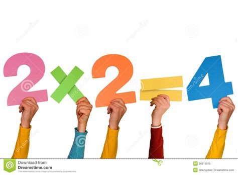 2x2=4 Stock Image. Image Of Hand, Studying, Arithmetic