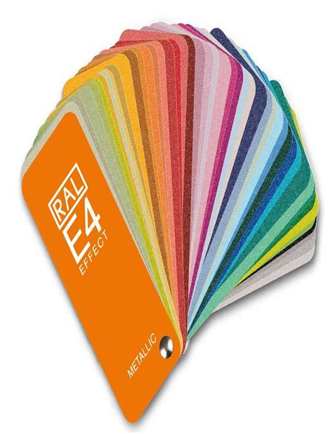 ral e4 color fan deck with 70 ral effect metalic colors