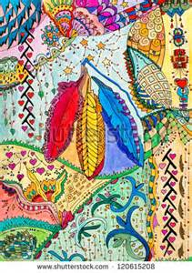 Abstract Native American Feather Art