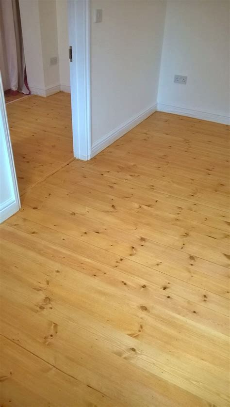 Antique pine stain applied onto pine boards   Step