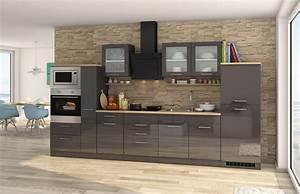 Küchenzeile 360 Cm Mit Elektrogeräten : k chenzeile m nchen vario 4 k che mit e ger ten breite 360 cm hochglanz grau graphit ~ Bigdaddyawards.com Haus und Dekorationen
