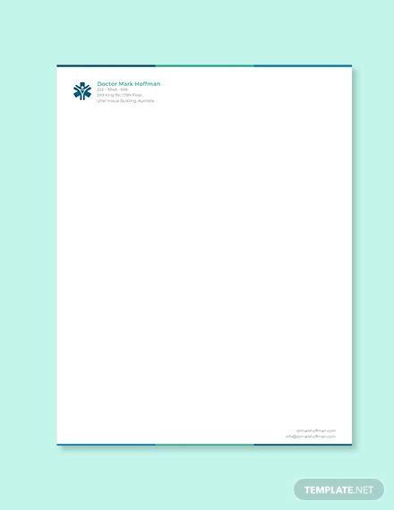 doctor letterhead templates  word  format
