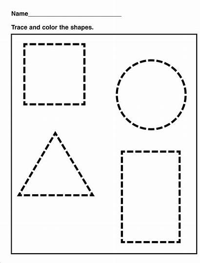 Shapes Worksheets Tracing Shape Preschool Worksheet Kindergarten