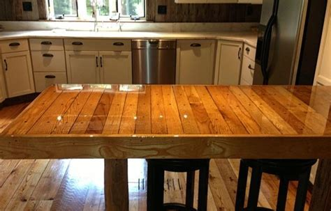Wood Plank Kitchen Table   Ideas   Pinterest   Kitchen
