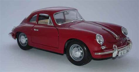 porsche model car porsche 356 b coupe red burago diecast model car 1 18