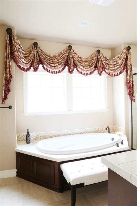 rosy swags rosette valance curtain drapes