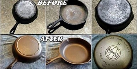 clean  rusty cast iron skillet home design