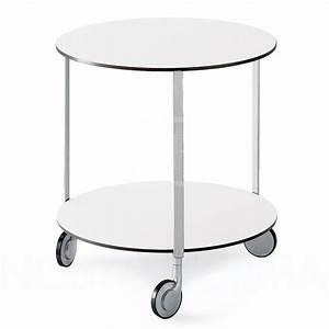 Zanotta giro tisch mit rollen nostraforma design shop for Tisch mit rollen