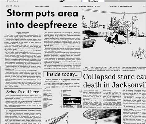 wilmington nc ice storms