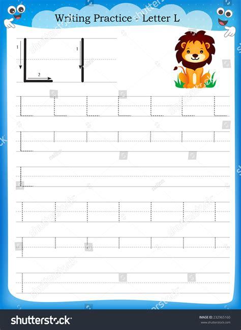 writing practice letter  printable worksheet  clip