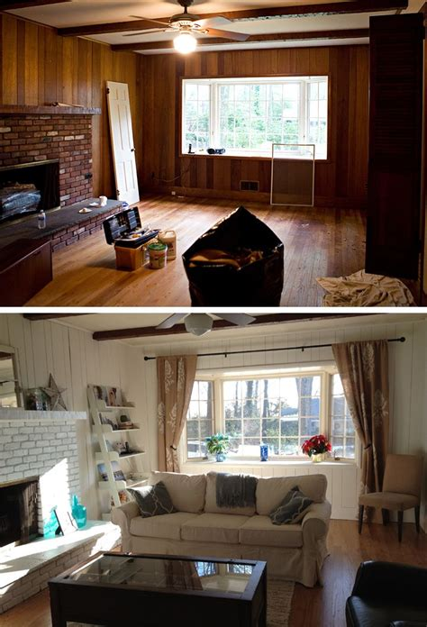 friends house family room beforeafter beachy