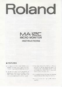 Ma-12c Manuals