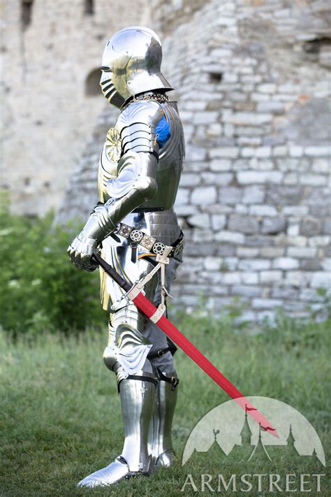 medieval knight gothic plate armour full set  sale