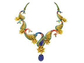 jewellery design peacock necklace jewellery designs