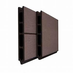Bois Composite Cloture : lame pour cloture composite couleur marron chocolat ~ Edinachiropracticcenter.com Idées de Décoration