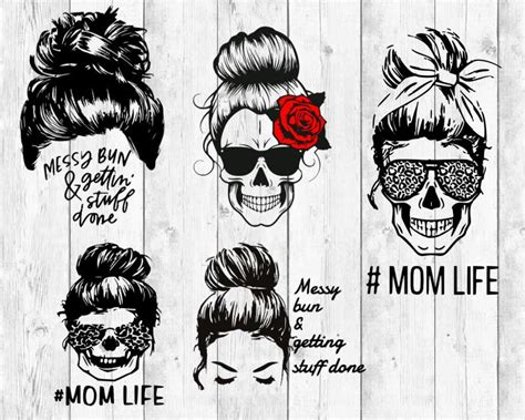 Some of the technologies we use are necessary for critical functions like security and site integrity, account authentication, security and privacy preferences, internal site usage and maintenance data, and to make the site work correctly for browsing and transactions. Messy Bun SVG bundle Mom life svg skull svg Curly Hair Bun ...
