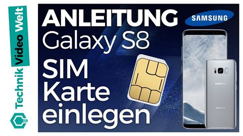 galaxy  sim karte einsetzen youtube