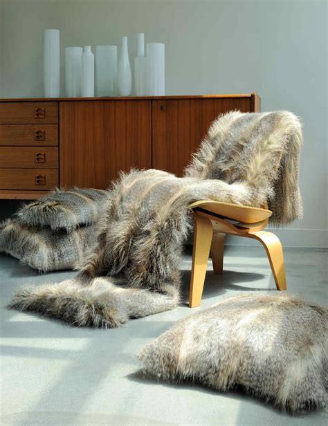 evelyne prelonge luxe faux fur bed covers  accessories