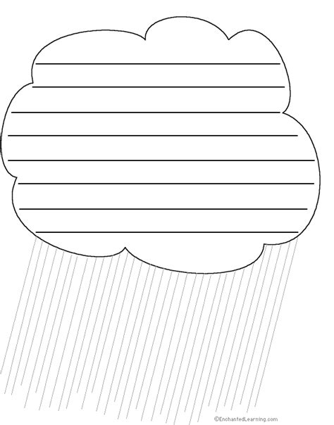 Cloud Template With Lines by Weather Related Writing Activities At Enchantedlearning
