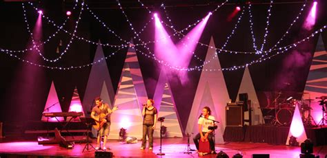 tiger christmas trees church stage design ideas