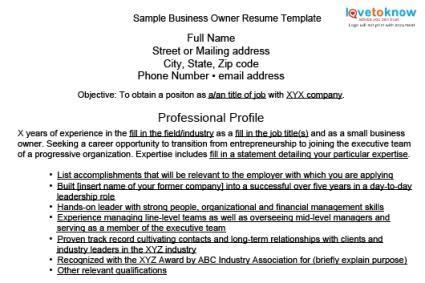 entrepreneur resume objective resume ideas