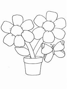 Flower Coloring Pages For Kids