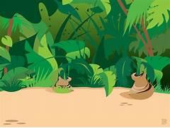 Cartoon Jungle Tree Co...