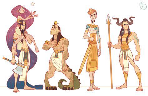 Egyptian Gods By Meomai On Deviantart