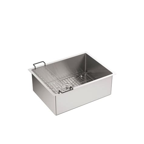 stainless undermount kitchen sink kohler strive undermount stainless steel 24 in single 5738