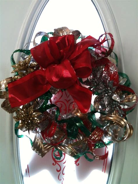 wreath    recycled water bottles recycled art