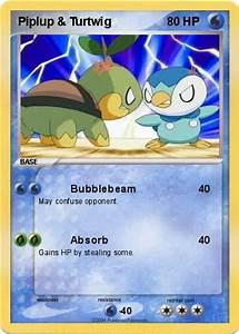 Pokémon Piplup Turtwig - Bubblebeam - My Pokemon Card