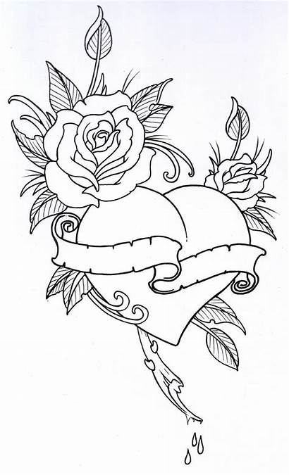 Outline Rose Outlines Drawing Tattoo Clipartion Clipart