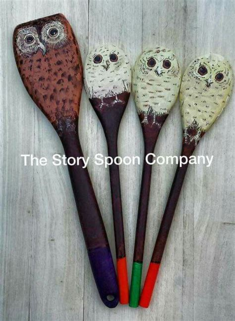 story spoons puppets owl babies story spoons baby owls painted spoons