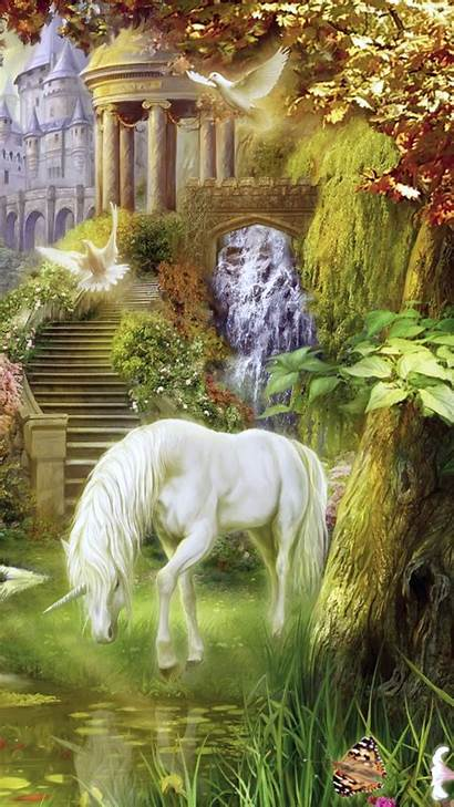 Unicorn Fantasy Mobile Forest Wallpapers Magical