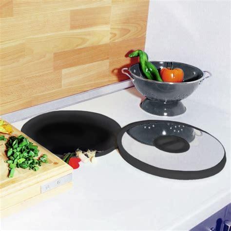 accessoire plan de travail cuisine poubelle plan de travail 13l noir inox sokleo oskab