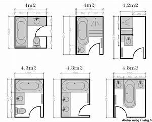 Plan Petite Salle De Bain : les salles de bains de taille moyenne 4 5 6 m studio ~ Melissatoandfro.com Idées de Décoration