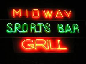 Midway Inn Sports Bar and Grill Warren MI Neon Signs