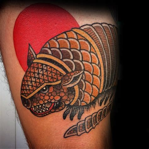 armadillo tattoo designs  men armor shell ink ideas