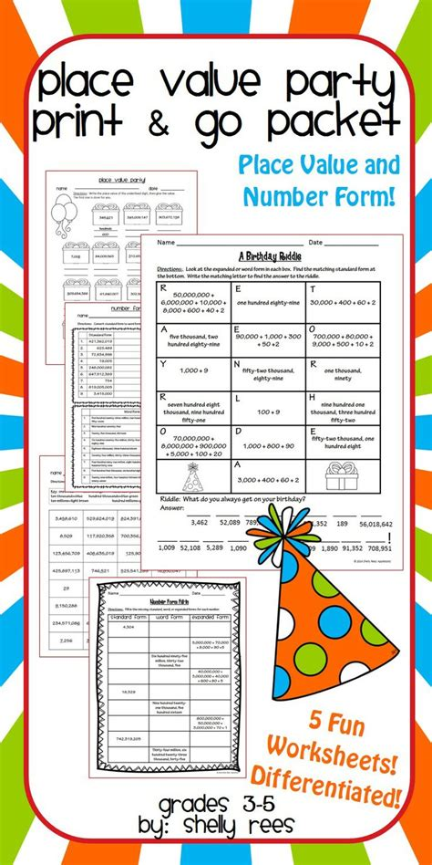 place value worksheets teaching ideas place values