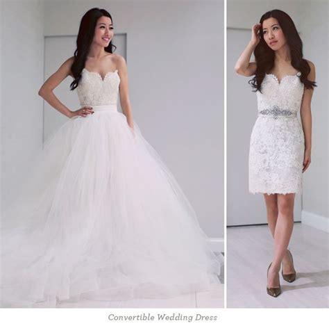 2 In 1 Convertible Wedding Dresses