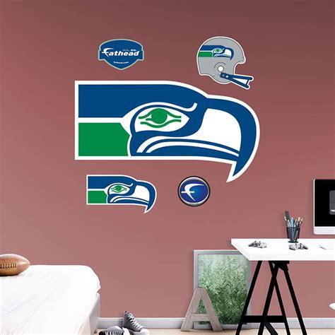 seattle seahawks classic logo wall decal shop fathead