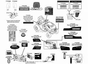 Mtd 13bl78st099  247 288853   Lt2000   2013  Parts Diagram