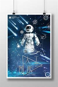 Creative, Robot, Artificial, Intelligence, Technology, Poster