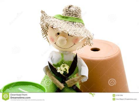 De Pop Van Het Stro Met Bloempot Stock Foto Afbeelding
