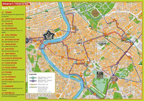 rome tourism map