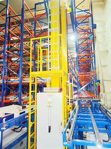 Warehouse, Asrs, Automatic, Storage, Racking, System, With, Stacker, Crane