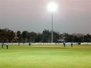 Cricket ground with flood lights in hyderabad