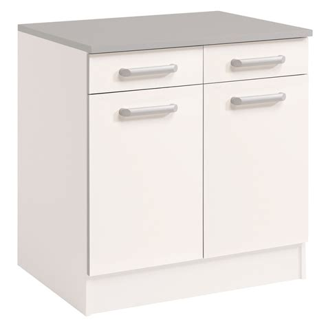 but meubles de cuisine meuble bas de cuisine contemporain 80 cm 2 portes 2